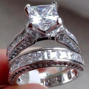 Jewelry - 🎁🎀 4 CT CZ Platinum Plated Ring 🎀🎁❗️❗️❗️